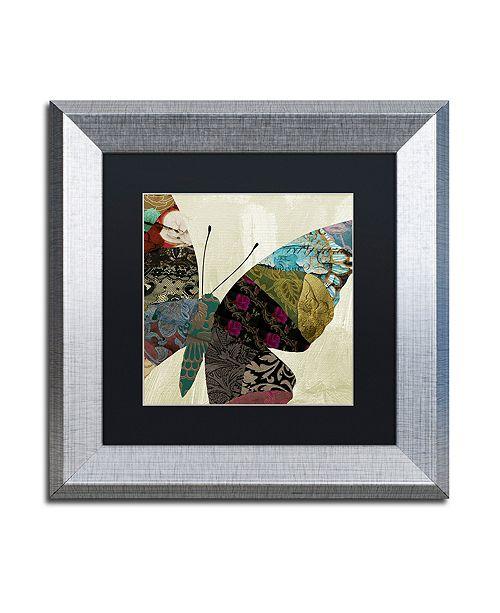 "Trademark Global Color Bakery 'Butterfly Brocade Iv' Matted Framed Art, 11"" x 11"""
