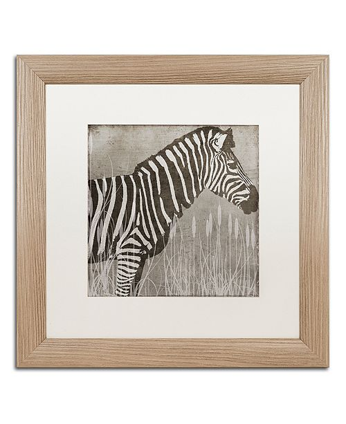 """Trademark Global Color Bakery 'Zebra' Matted Framed Art, 16"""" x 16"""""""