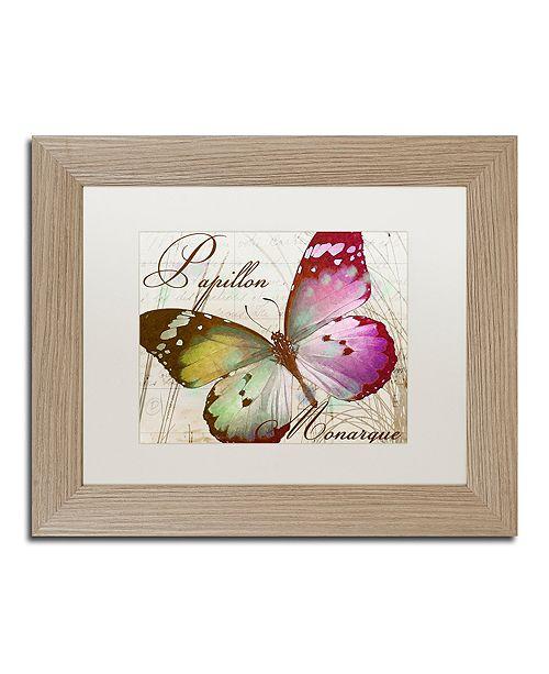 "Trademark Global Color Bakery 'Papillon Ii' Matted Framed Art, 11"" x 14"""