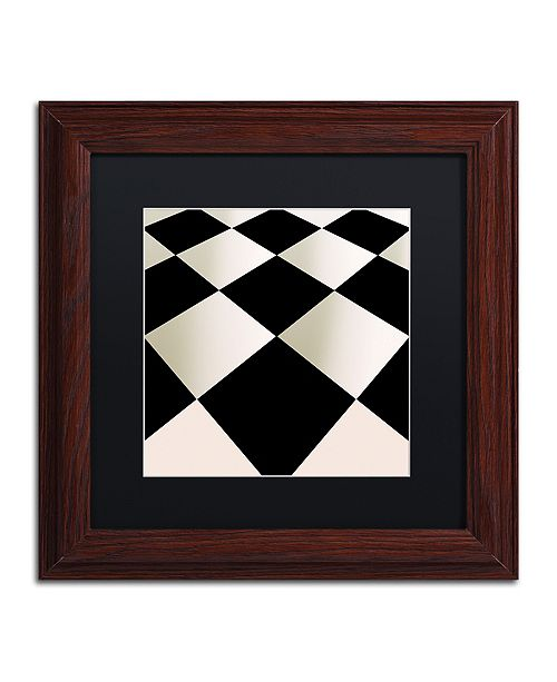 "Trademark Global Color Bakery 'Fifties Patterns V' Matted Framed Art, 11"" x 11"""