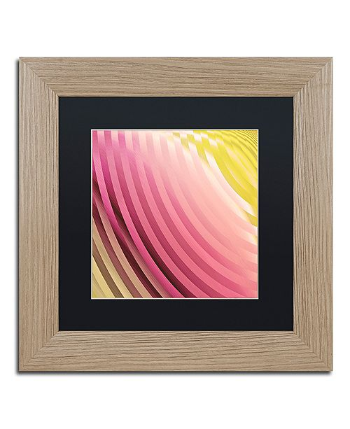 "Trademark Global Color Bakery 'Satin V' Matted Framed Art, 11"" x 11"""