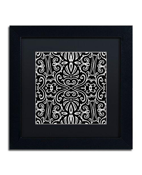 "Trademark Global Color Bakery 'Suriah I' Matted Framed Art, 11"" x 11"""