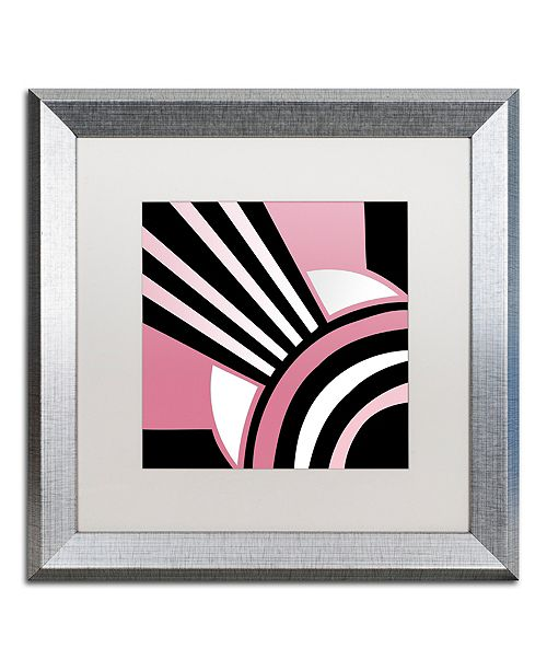 "Trademark Global Color Bakery 'Daring Deco I' Matted Framed Art, 16"" x 16"""