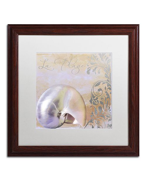 "Trademark Global Color Bakery 'Painted Sea Iv' Matted Framed Art, 16"" x 16"""