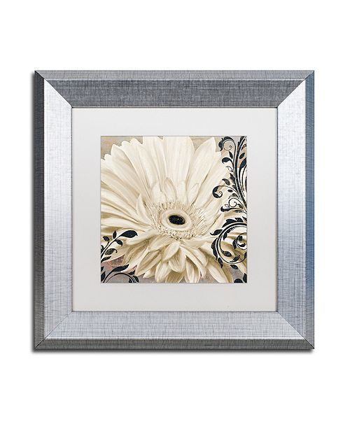 "Trademark Global Color Bakery 'Winter White I' Matted Framed Art, 11"" x 11"""