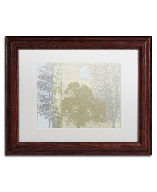 """Trademark Global Color Bakery 'Tree Language Ii' Matted Framed Art, 11"""" x 14"""""""