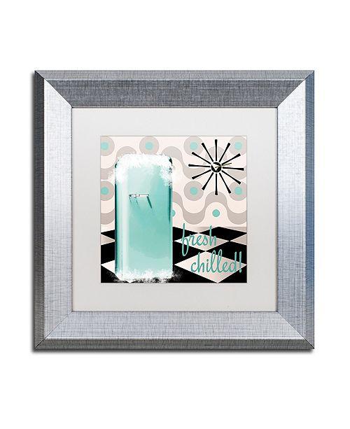 "Trademark Global Color Bakery 'Fifties Kitchen Ii' Matted Framed Art, 11"" x 11"""