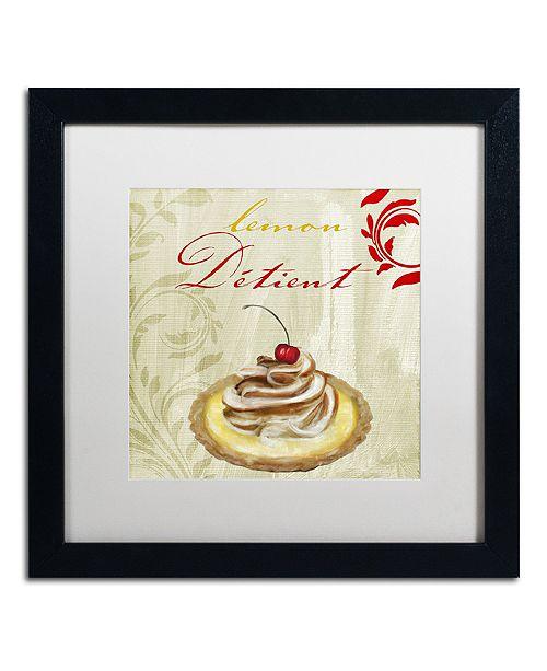 """Trademark Global Color Bakery 'Tartes Francais, Lemon' Matted Framed Art, 16"""" x 16"""""""