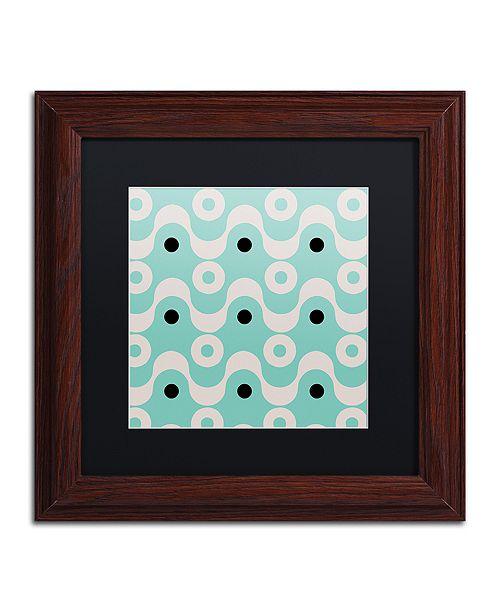 "Trademark Global Color Bakery 'Fifties Patterns Ii' Matted Framed Art, 11"" x 11"""