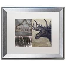 """Color Bakery 'Moose' Matted Framed Art, 16"""" x 20"""""""