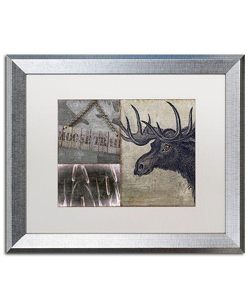 "Trademark Global Color Bakery 'Moose' Matted Framed Art, 16"" x 20"""