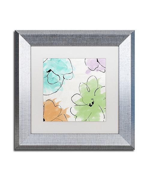 "Trademark Global Color Bakery 'Kasumi Three' Matted Framed Art, 11"" x 11"""