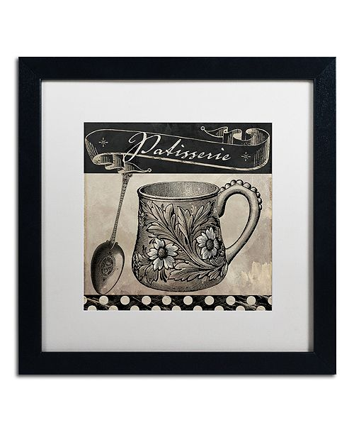 "Trademark Global Color Bakery 'Bistro Parisienne Iii' Matted Framed Art, 16"" x 16"""