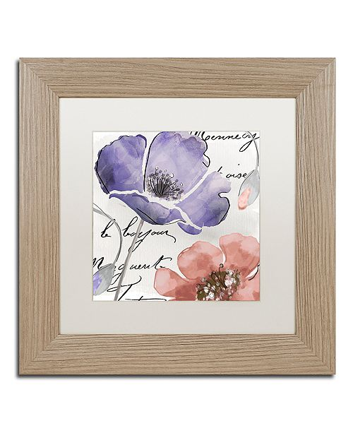 "Trademark Global Color Bakery 'Fleurs De France Iii' Matted Framed Art, 11"" x 11"""