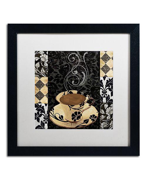 """Trademark Global Color Bakery 'Cafe Noir Vi' Matted Framed Art, 16"""" x 16"""""""