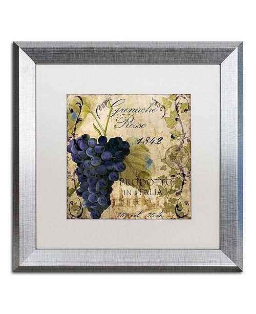 "Trademark Global Color Bakery 'Vino Italiano Iii' Matted Framed Art, 16"" x 16"""