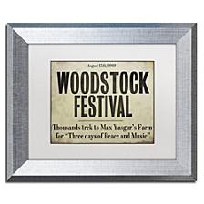 "Color Bakery 'Woodstock' Matted Framed Art, 11"" x 14"""