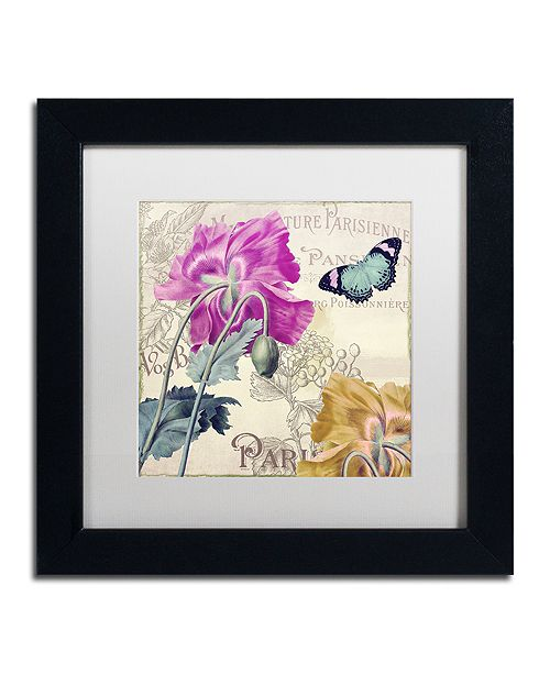 "Trademark Global Color Bakery 'Petals Of Paris Iii' Matted Framed Art, 11"" x 11"""