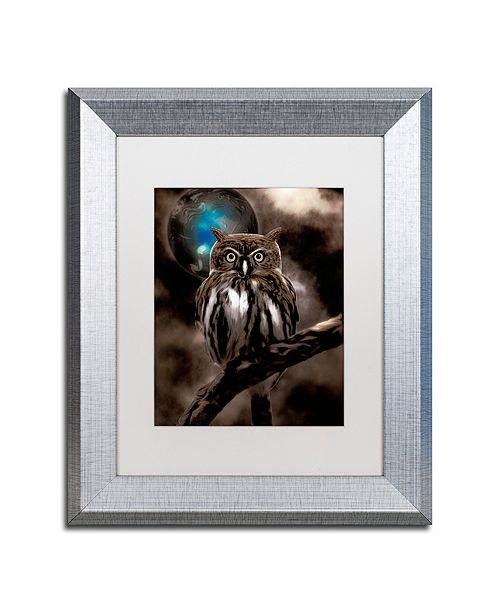 "Trademark Global Color Bakery 'Night Owl' Matted Framed Art, 11"" x 14"""