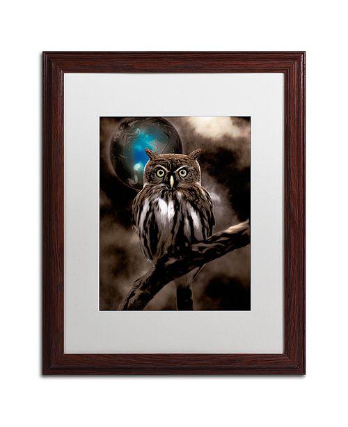 "Trademark Global Color Bakery 'Night Owl' Matted Framed Art, 16"" x 20"""