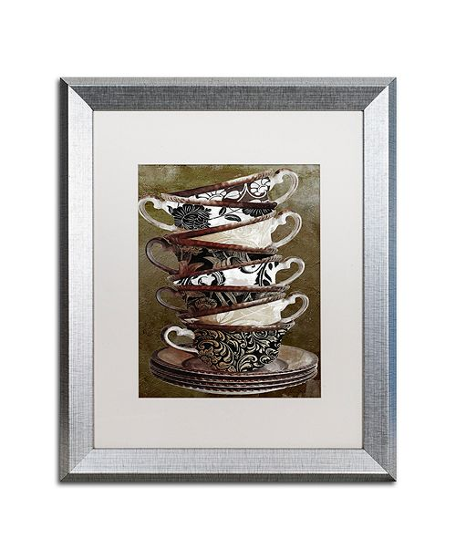 "Trademark Global Color Bakery 'Afternoon Tea Ii' Matted Framed Art, 16"" x 20"""