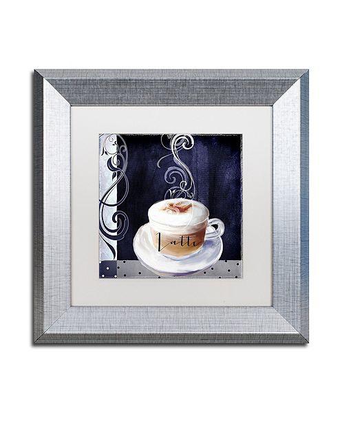 """Trademark Global Color Bakery 'Cafe Blue Ii' Matted Framed Art, 11"""" x 11"""""""