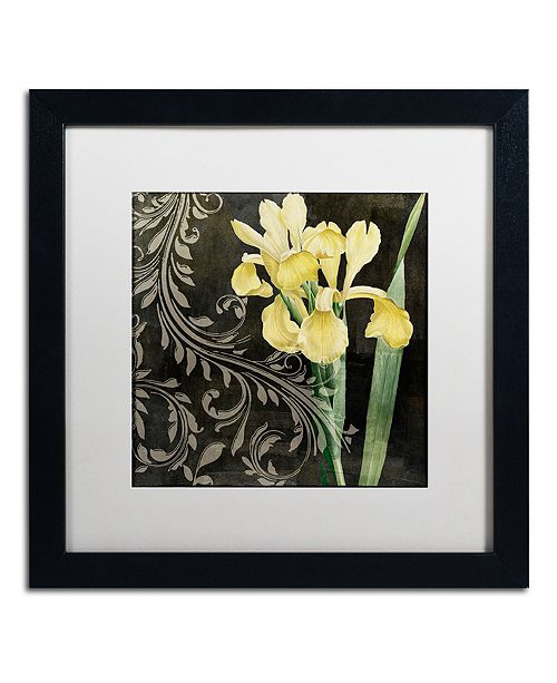 "Trademark Global Color Bakery 'Ode To Yellow Ii' Matted Framed Art, 16"" x 16"""