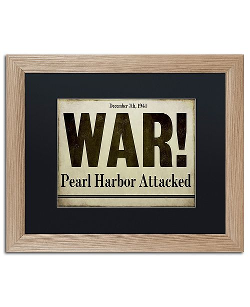 "Trademark Global Color Bakery 'Pearl Harbor' Matted Framed Art, 16"" x 20"""
