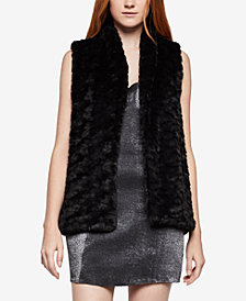 BCBGeneration Open-Front Faux-Fur Vest