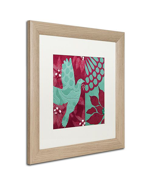 "Trademark Global Color Bakery 'Woodland Winter Iii' Matted Framed Art, 16"" x 16"""