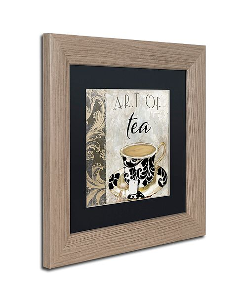 "Trademark Global Color Bakery 'Art Of Tea I' Matted Framed Art, 11"" x 11"""