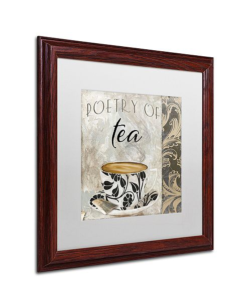 "Trademark Global Color Bakery 'Art Of Tea Ii' Matted Framed Art, 16"" x 16"""