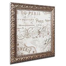 Color Bakery 'Bon Mots Iv' Ornate Framed Art