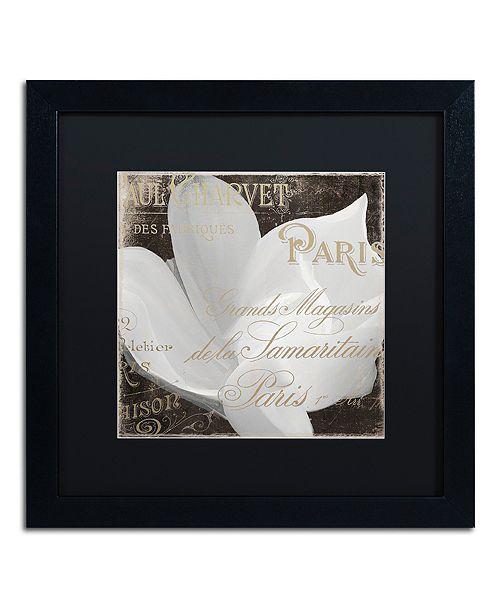 "Trademark Global Color Bakery 'Fleurs Blanc Ii' Matted Framed Art, 16"" x 16"""