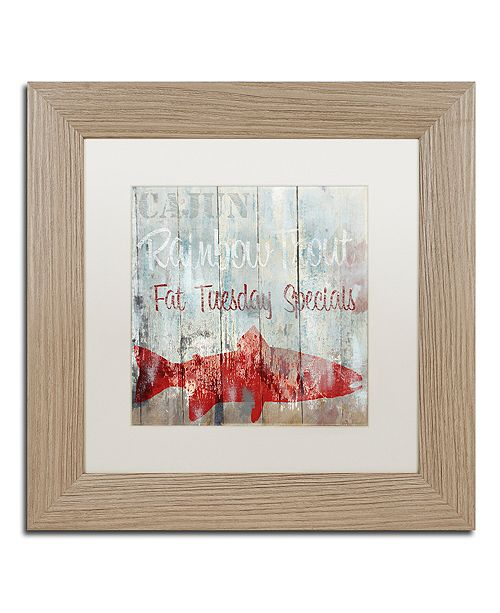 """Trademark Global Color Bakery 'New Orleans Seafood Iii' Matted Framed Art, 11"""" x 11"""""""