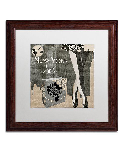 "Trademark Global Color Bakery 'New York Style Ii' Matted Framed Art, 16"" x 16"""