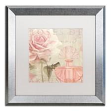 """Color Bakery 'Parfum De Roses I' Matted Framed Art, 16"""" x 16"""""""