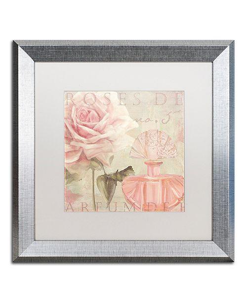 """Trademark Global Color Bakery 'Parfum De Roses I' Matted Framed Art, 16"""" x 16"""""""