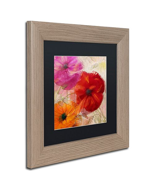 """Trademark Global Color Bakery 'Penchant For Poppies I' Matted Framed Art, 11"""" x 11"""""""