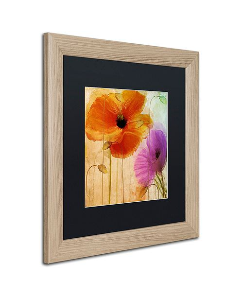 """Trademark Global Color Bakery 'Penchant For Poppies Ii' Matted Framed Art, 16"""" x 16"""""""