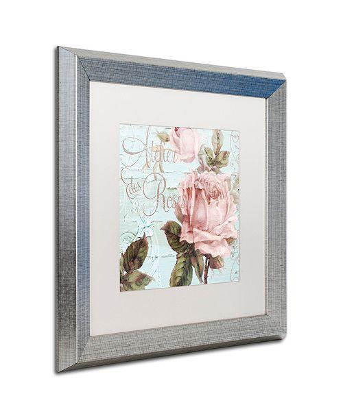 """Trademark Global Color Bakery 'Atelier De Roses' Matted Framed Art, 16"""" x 16"""""""