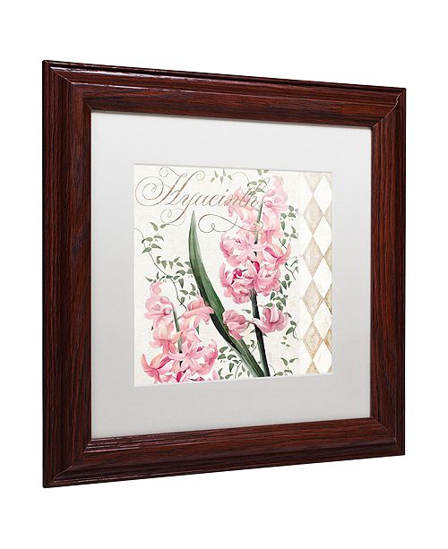 "Trademark Global Color Bakery 'Hyacinth' Matted Framed Art, 11"" x 11"""