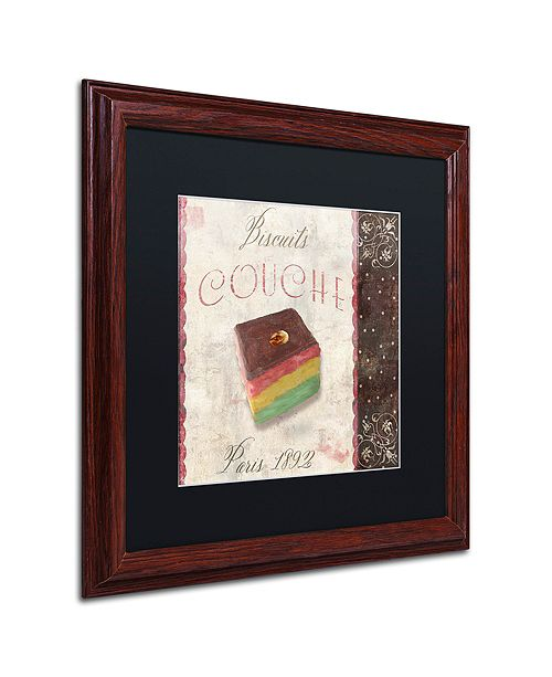 "Trademark Global Color Bakery 'Patisserie Xiv' Matted Framed Art, 16"" x 16"""
