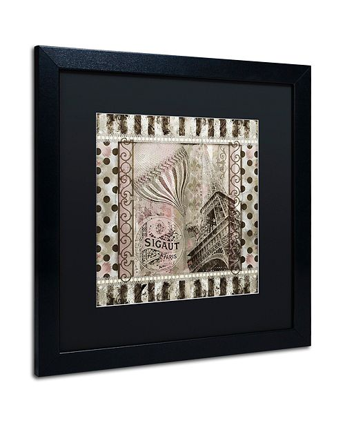 """Trademark Global Color Bakery 'When In Paris' Matted Framed Art, 16"""" x 16"""""""