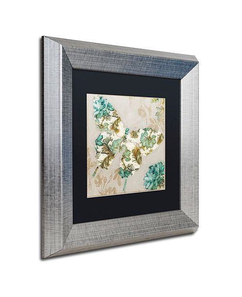"Trademark Global Color Bakery 'Winged Tapestry Ii' Matted Framed Art, 11"" x 11"""