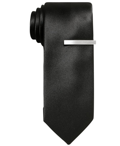 Alfani Men's Black Skinny Tie, Created for Macy's