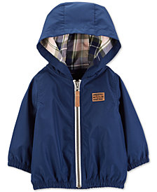Carter's Baby Boys Hooded Zip-Up Poplin Jacket