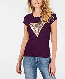 GUESS Glitter Logo T-Shirt