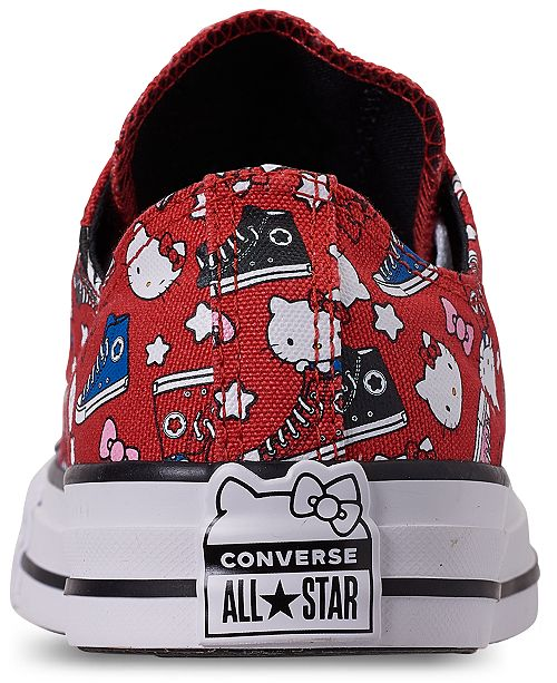 ... Converse Unisex Chuck Taylor Low Hello Kitty Casual Sneakers from Finish  Line ... fabdaf4c6085d