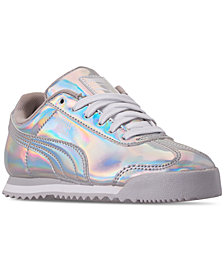 Puma Little Girls' Roma Iridescent Casual Sneakers from Finish Line